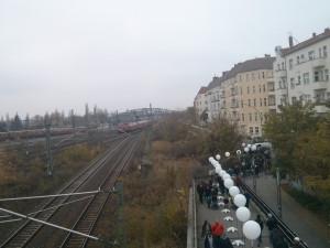 Bösebrücke hoy en día, durante la celebración del 25 aniversario de la caída del muro