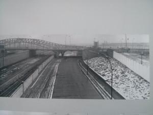 Bösebrücke y su zona de seguridad antes de la caída del muro
